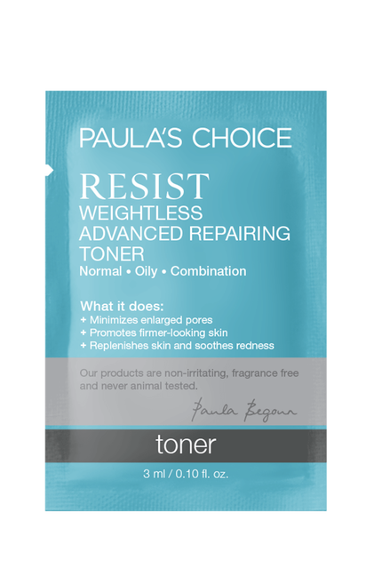 Resist Anti-Aging Weightless Advanced Repairing Toner Sample